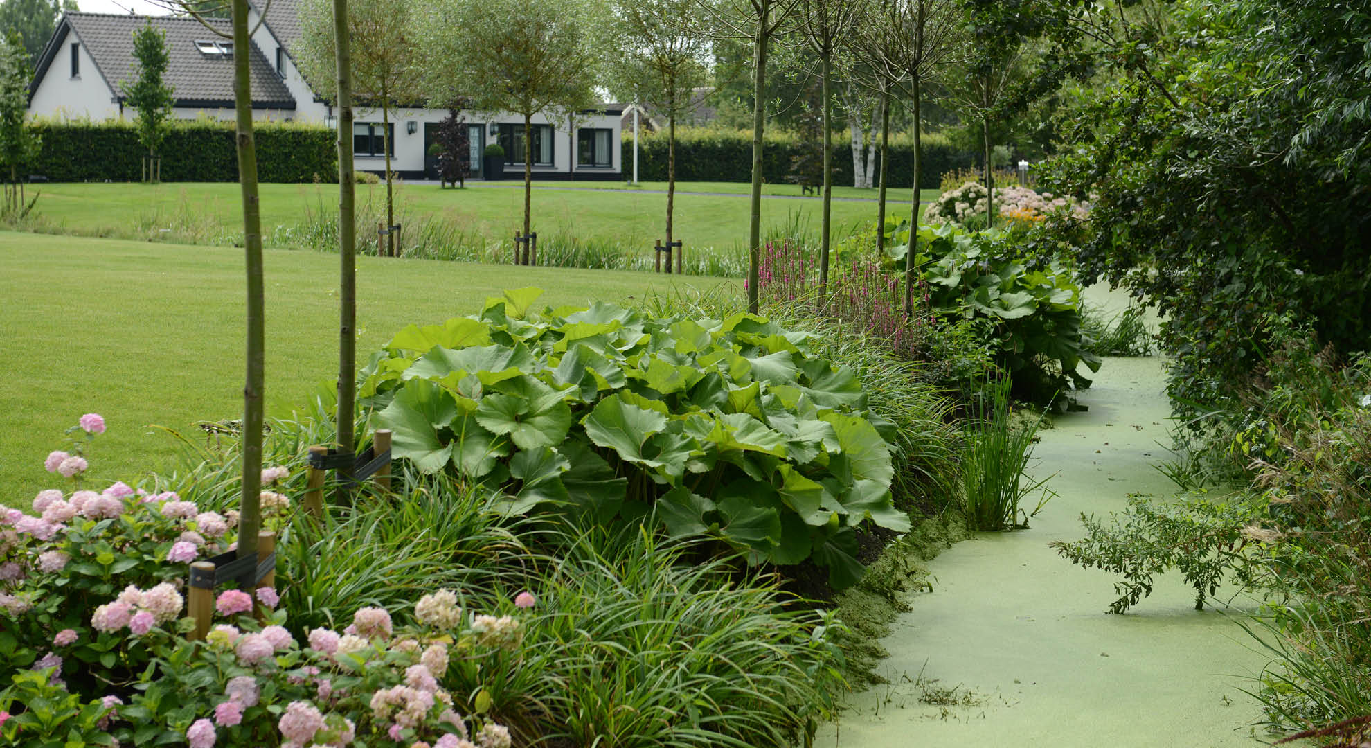 Landelijke tuin bij modern landhuis - Foto 10