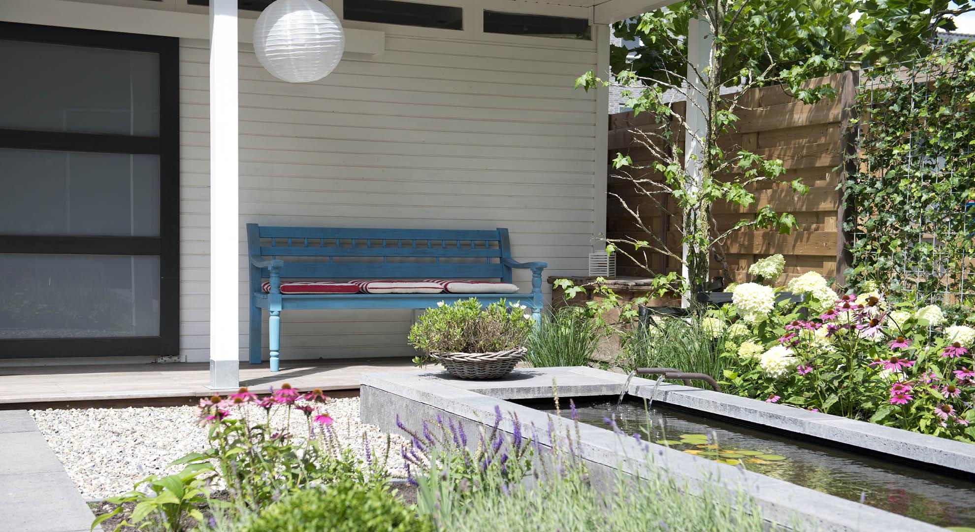 Moderne achtertuin bij nieuwbouwwoning - Foto 5