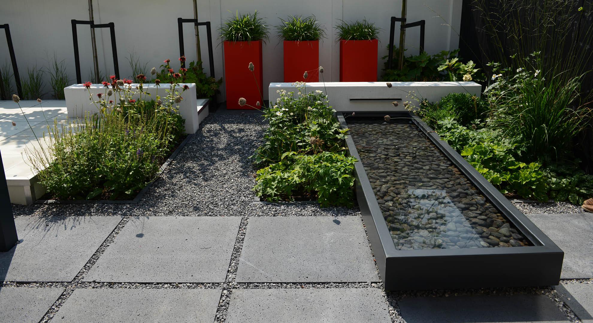 Moderne onderhoudsvriendelijke achtertuin - Foto 9