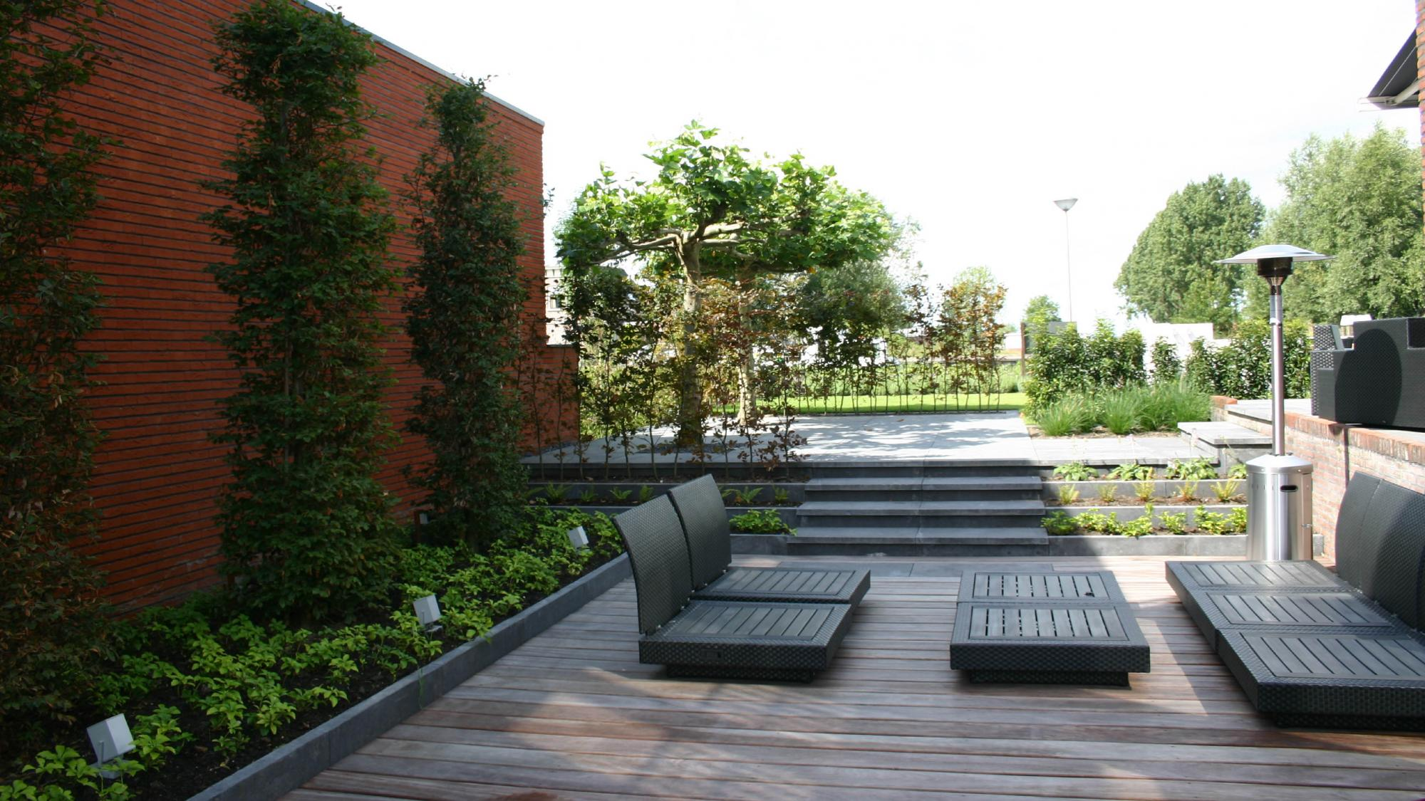 Moderne onderhoudsvriendelijke tuin  - Foto 2