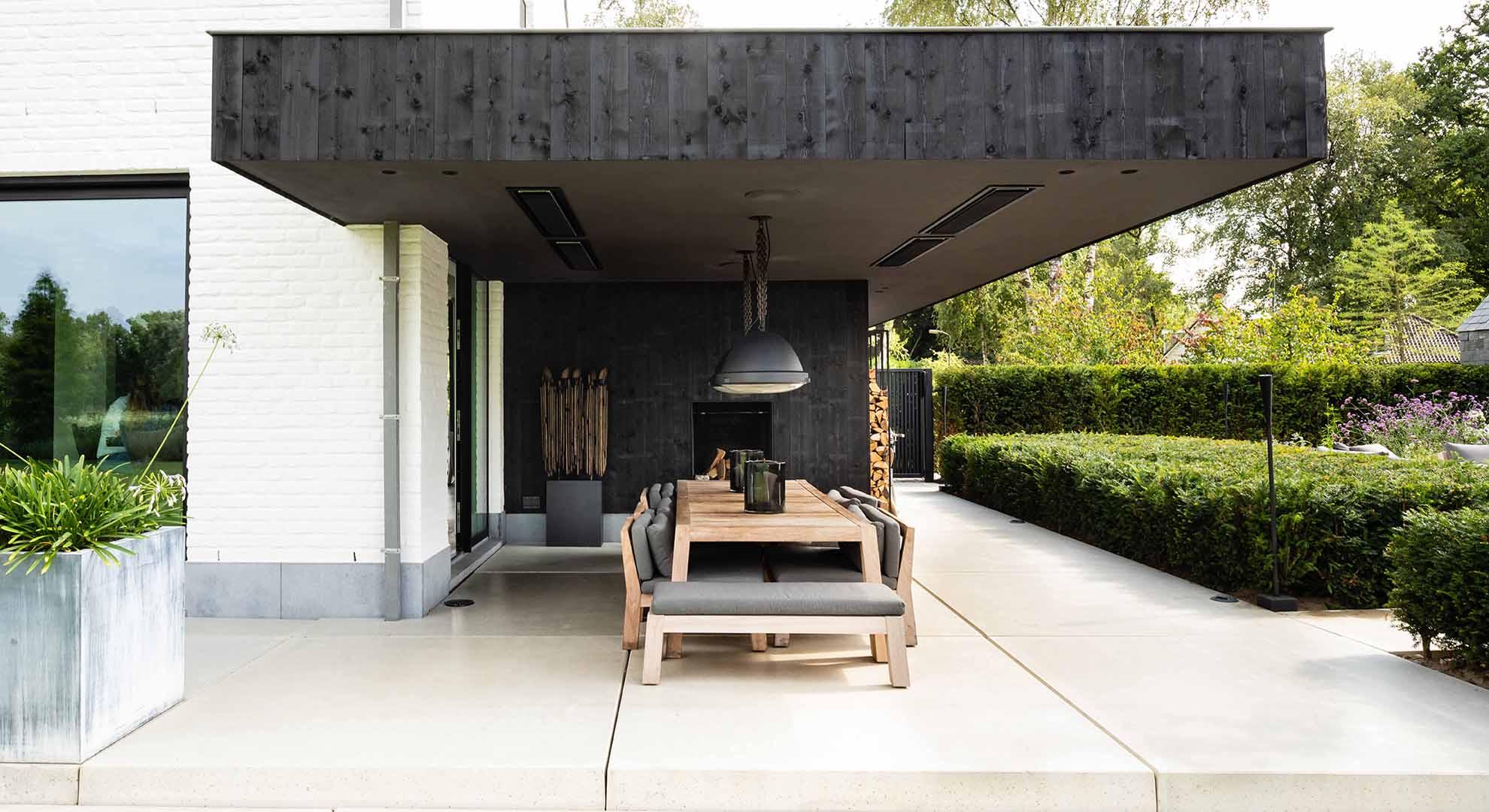 Moderne tuin met zwembad en bijzonder terras - Foto 8