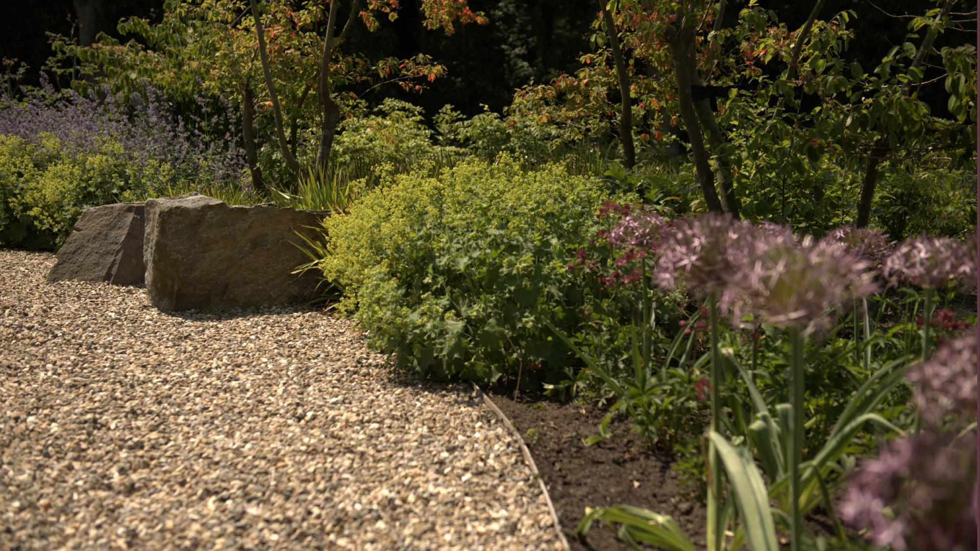 Natuurlijke tuin rondom een hoekwoning - Foto 2