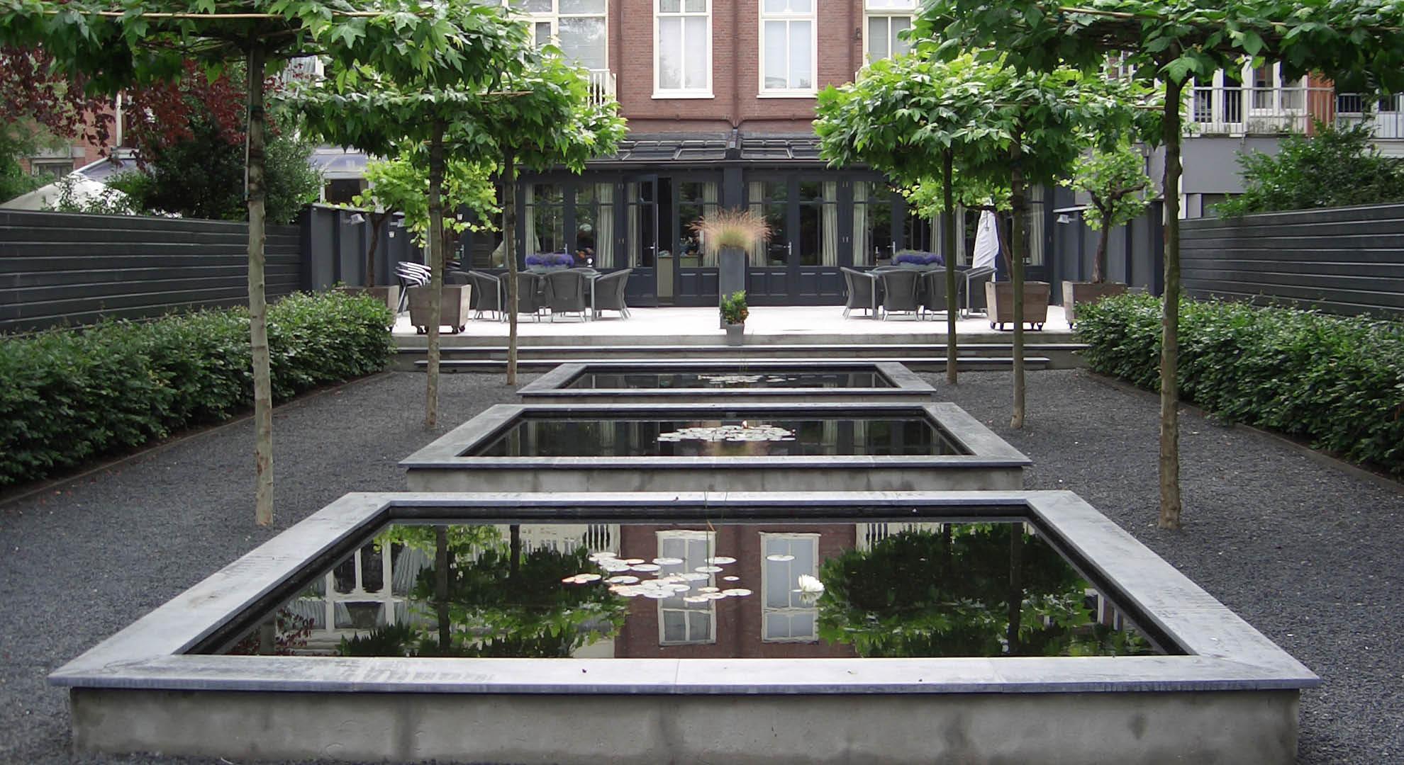 Spiegelvijvers in stadstuin - Foto 2
