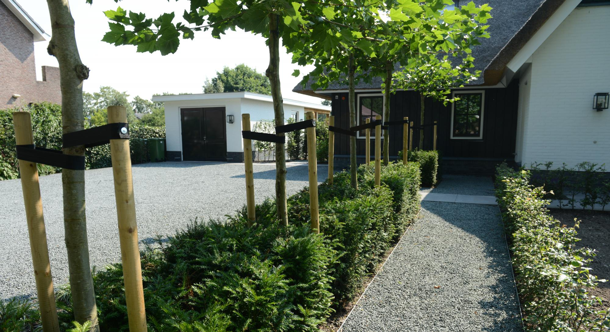 Strakke tuin bij modern landhuis rodenburg tuinen - Moderne tuin foto ...