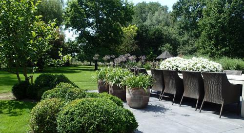 Particuliere tuin aan de oude Rijn