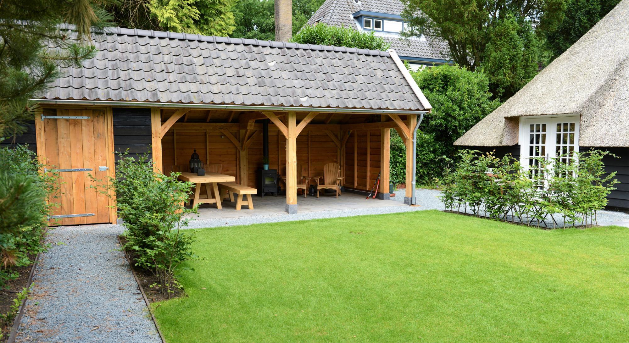 Villatuin met eikenhouten kapschuur  - Foto 5