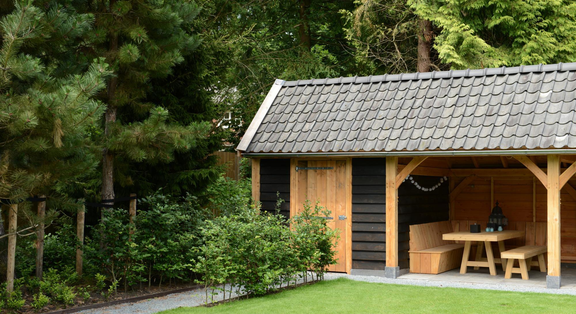 Villatuin met eikenhouten kapschuur  - Foto 7